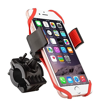 Insten Bike Bicycle Motorcycle Universal Phone Holder with Secure Grip 360 Ball Head Mount (Width: 2.16