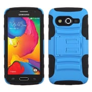 Insten Advanced Armor Hard Dual Layer Plastic Silicone Case w/stand For Samsung Galaxy Avant - Black/Blue (1984668)