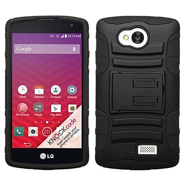 Insten Advanced Armor Hard Hybrid Rugged Shockproof Case with Stand For LG Tribute - Black (2011436)