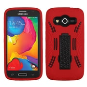 Insten Skin Dual Layer Rubber Hard Case w/stand For Samsung Galaxy Avant - Red/Black (2092089)