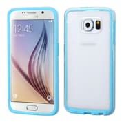 Insten Gel Case For Samsung Galaxy S6 - Clear/Blue (2107731)