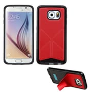 Insten Rubber Cover Case w/stand For Samsung Galaxy S6 - Red/Black (2119550)