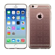 "Insten Glassy Transparent Clear Black Rubber Gel TPU Spots Case for iPhone 6 6S 4.7"" (Shock-Absorbing) (2173047)"