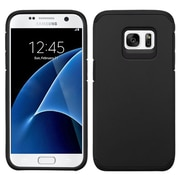 Insten Hard Dual Layer Rubber Silicone Case For Samsung Galaxy S7 - Black (2195614)
