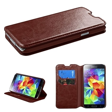 Insten MyJacket Case Cover Wallet with Tray 562 with Package For SAMSUNG Galaxy S5 - Brown (1852559)