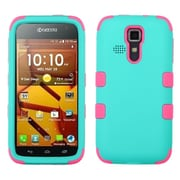 Insten TUFF Hybrid Cover Case Protector For Kyocera Hydro Life C6530 Icon 6730 - Teal Green/Pink (1932488)
