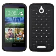 Insten FullStar Hybrid Hard Shockproof Silicone Dual Layer Protective Back Case Cover For HTC Desire 510 - Black (2026194)