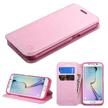 Insten ? Étui support folio en cuir avec porte-carte pour Samsung Galaxy S6 Edge, rose (2091737)