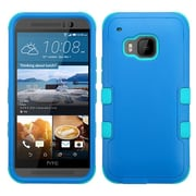 Insten Hard Hybrid Rugged Shockproof Rubber Coated Silicone Cover Case For HTC One M9 - Blue (2091996)