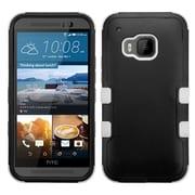 Insten Hard Hybrid Rugged Shockproof Silicone Case For HTC One M9 - Black/White (2092002)