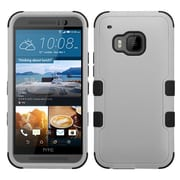 Insten Hard Hybrid Rugged Shockproof Rubber Silicone Cover Case For HTC One M9 - Gray/Black (2092004)