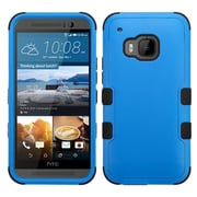 Insten Hard Hybrid Rugged Shockproof Rubber Coated Silicone Cover Case For HTC One M9 - Blue/Black (2092007)