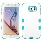 Insten Tuff Hard Dual Layer Rubberized Silicone Case For Samsung Galaxy S6 - White/Blue (2096528)