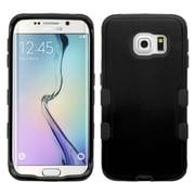 Insten Hard Dual Layer Rubber Silicone Cover Case For Samsung Galaxy S6 Edge - Black (2107579)