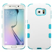Insten Tuff Hard Dual Layer Rubberized Silicone Cover Case For Samsung Galaxy S6 Edge - White/Blue (2107583)