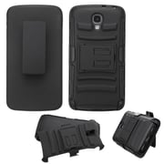Insten Hard Dual Layer Plastic Silicone Case w/Holster For LG Volt - Black (2121378)