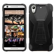 Insten Hard Hybrid Plastic Silicone Cover Case w/stand For HTC Desire 626 - Black (2130170)