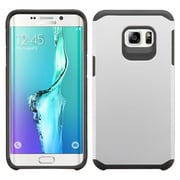 Insten Hard Hybrid Rugged Shockproof Rubber Silicone Case For Samsung Galaxy S6 Edge Plus - Silver/Black (2135053)