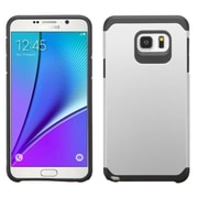 Insten Hard Hybrid Rugged Shockproof Rubber Coated Silicone Cover Case For Samsung Galaxy Note 5 - Silver/Black (2141642)