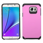 Insten Hard Hybrid Rugged Shockproof Rubberized Silicone Cover Case For Samsung Galaxy Note 5 - Pink/Black (2141643)
