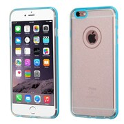 Insten Hard Dual Layer Glitter TPU Case For Apple iPhone 6 Plus/6s Plus - Clear/Blue (2164996)
