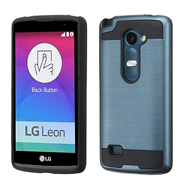 Insten Hard Hybrid Rugged Shockproof Rubber Coated Silicone Cover Case For LG Leon/Risio/Tribute 2, Blue/Black (2166556)