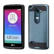 Insten Hard Hybrid Rugged Shockproof Rubber Coated Silicone Cover Case For LG Leon/Risio/Tribute 2 - Blue/Black (2166556)