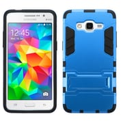 Insten Hard Hybrid Rugged Shockproof Silicone Cover Case with Stand For Samsung Galaxy Grand Prime - Blue/Black (2166609)