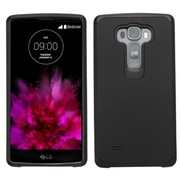 Insten Hard Dual Layer Rubber Silicone Cover Case For LG G Flex 2 - Black (2166840)