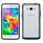 Insten Gel Cover Case For Samsung Galaxy Grand Prime - Clear/Black (2178259)