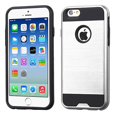 Insten Hard Hybrid Rubber Coated Silicone Cover Case For Apple iPhone 6/6s, Silver/Black (2185431)