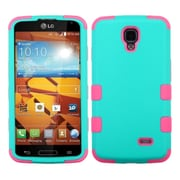 Insten TUFF Hybrid Rugged Hard Shockproof Phone Case For LG Volt LS740 - Teal Green/Electric Pink (1934235)