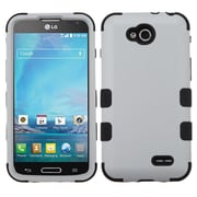 Insten Gray/Black TUFF Hybrid Rugged Hard Shockproof Phone Cover Skin Case For LG D415 Optimus L90 (1947044)