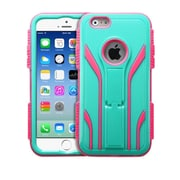 "Insten Tuff Extreme Hard Dual Layer Shock Resistant Plastic Silicone Case for iPhone 6S 6 4.7"" - Teal Green/Pink (1951615)"