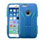 "Insten Tuff Extreme Hard Dual Layer Shock Resistant Plastic Silicone Case for iPhone 6S 6 4.7"" - Blue/Teal Green (1951652)"