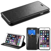 """Insten MyJacket Book-Style Leather Fabric Cover Case w/stand/card holder For Apple iPhone 6 Plus 5.5"""" - Black (1951696)"""