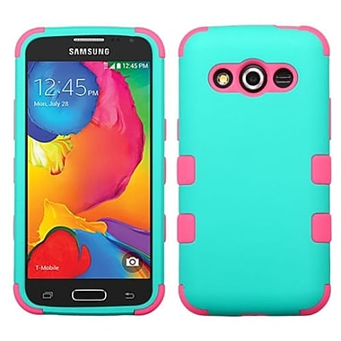 Insten Hard Dual Layer Rubberized Silicone Case For Samsung Galaxy Avant - Blue/Pink (2008229)