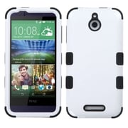 Insten Hard Dual Layer Rubberized Silicone Cover Case For HTC Desire 510 - White/Black (2011526)
