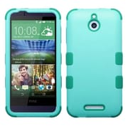 Insten Tuff Hard Dual Layer Rubber Silicone Case For HTC Desire 510 - Teal (2037151)