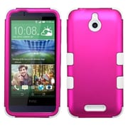 Insten Tuff Hard Dual Layer Rubber Coated Silicone Cover Case For HTC Desire 510 - Hot Pink/White (2043779)