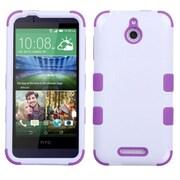 Insten Tuff Hard Dual Layer Silicone Case For HTC Desire 510 - White/Purple (2043783)