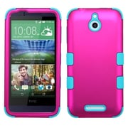 Insten Tuff Hard Dual Layer Rubber Silicone Cover Case For HTC Desire 510 - Hot Pink/Blue (2043785)