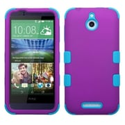 Insten Tuff Hard Dual Layer Rubber Silicone Cover Case For HTC Desire 510 - Purple/Blue (2045853)