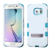 Insten Hard Hybrid Rugged Shockproof Silicone Cover Case with Stand For Samsung Galaxy S6 Edge - White/Blue (2107595)