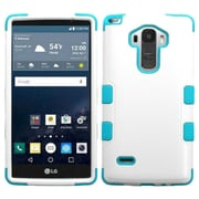 Insten Tuff Hard Dual Layer Rubber Silicone Cover Case For LG G Stylo - White/Blue (2121315)