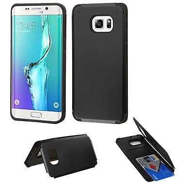 Insten Hard Rubberized Cover Case For Samsung Galaxy S6 Edge Plus - Black (2135011)
