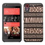 Insten Zebra Hard Dual Layer Rubberized Silicone Case For HTC Desire 626/626s - Brown/Black (2147967)