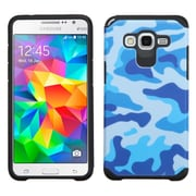 Insten Camouflage Hard Dual Layer Rubber Silicone Case For Samsung Galaxy Grand Prime - Blue/Black (2169361)