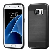 Insten Hard Hybrid Rubber Coated Silicone Cover Case For Samsung Galaxy S7 - Black (2195608)