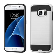 Insten Hard Hybrid Silicone Cover Case For Samsung Galaxy S7 - Silver/Black (2195609)